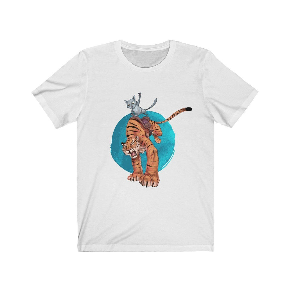 """Ride 'em Before They Ride You"" Cat and Tiger Premium T-Shirt #5 - Dan Pearce Creative Shop"