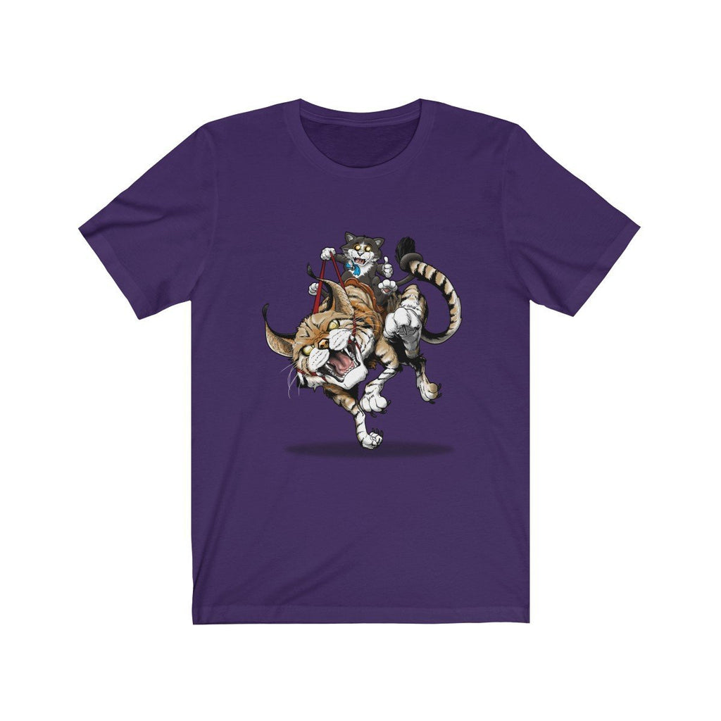 """Ride 'em Before They Ride You"" Cat and Wildcat Premium T-Shirt #6 - Dan Pearce Creative Shop"