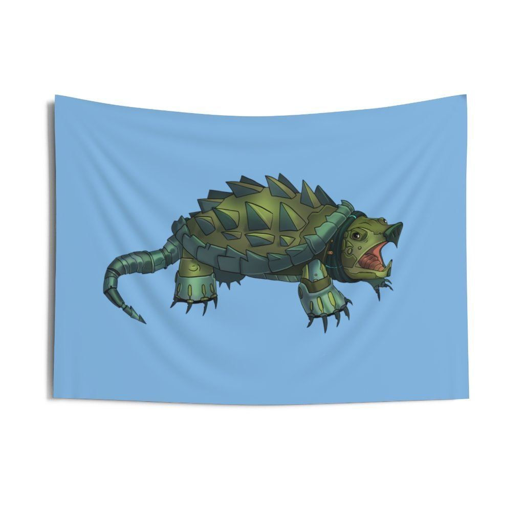 """Robot Aligator Snapping Turtle"" Indoor Wall Tapestry - Dan Pearce Creative Shop"