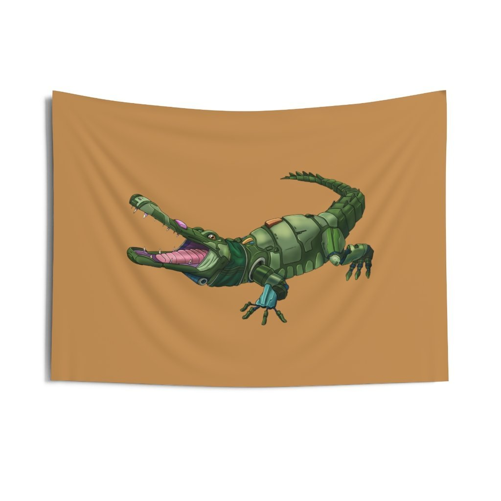 """Robot Alligator"" Indoor Wall Tapestry - Dan Pearce Creative Shop"