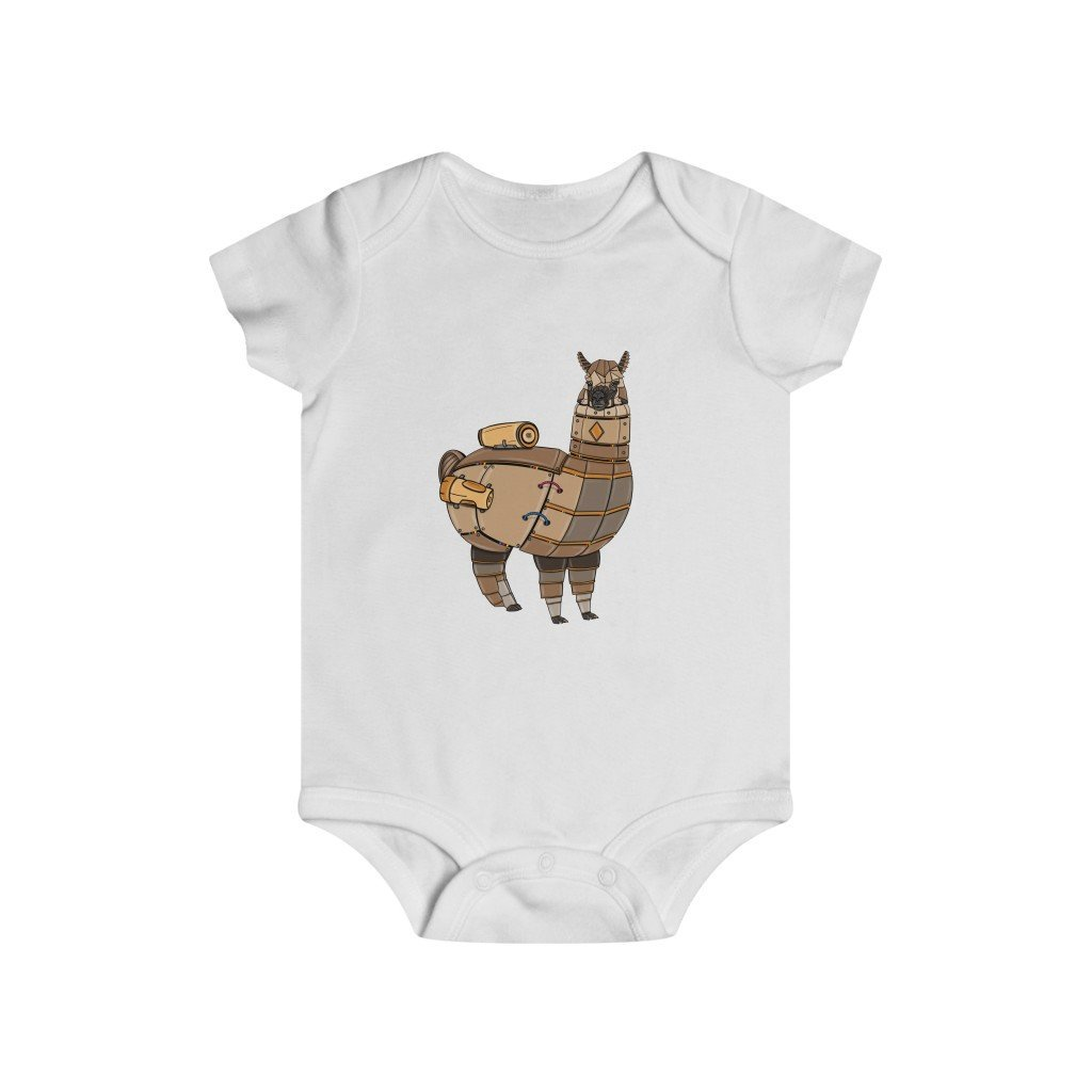 """Robot Alpaca"" Infant Rip Snap Tee Onesie - Dan Pearce Creative Shop"