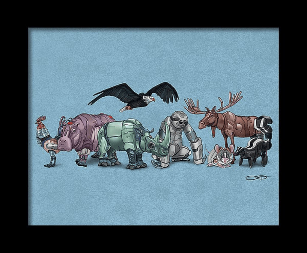 """Robot Animal Collection"" Collage #6 Fine Art Print Created by Dan Pearce - Dan Pearce Creative Shop"