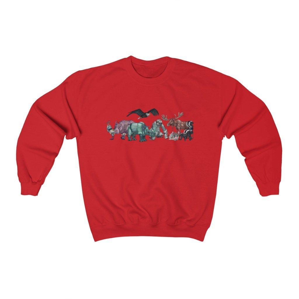 """Robot Animals"" Featured Crewneck Premium Sweatshirt - Dan Pearce Creative Shop"