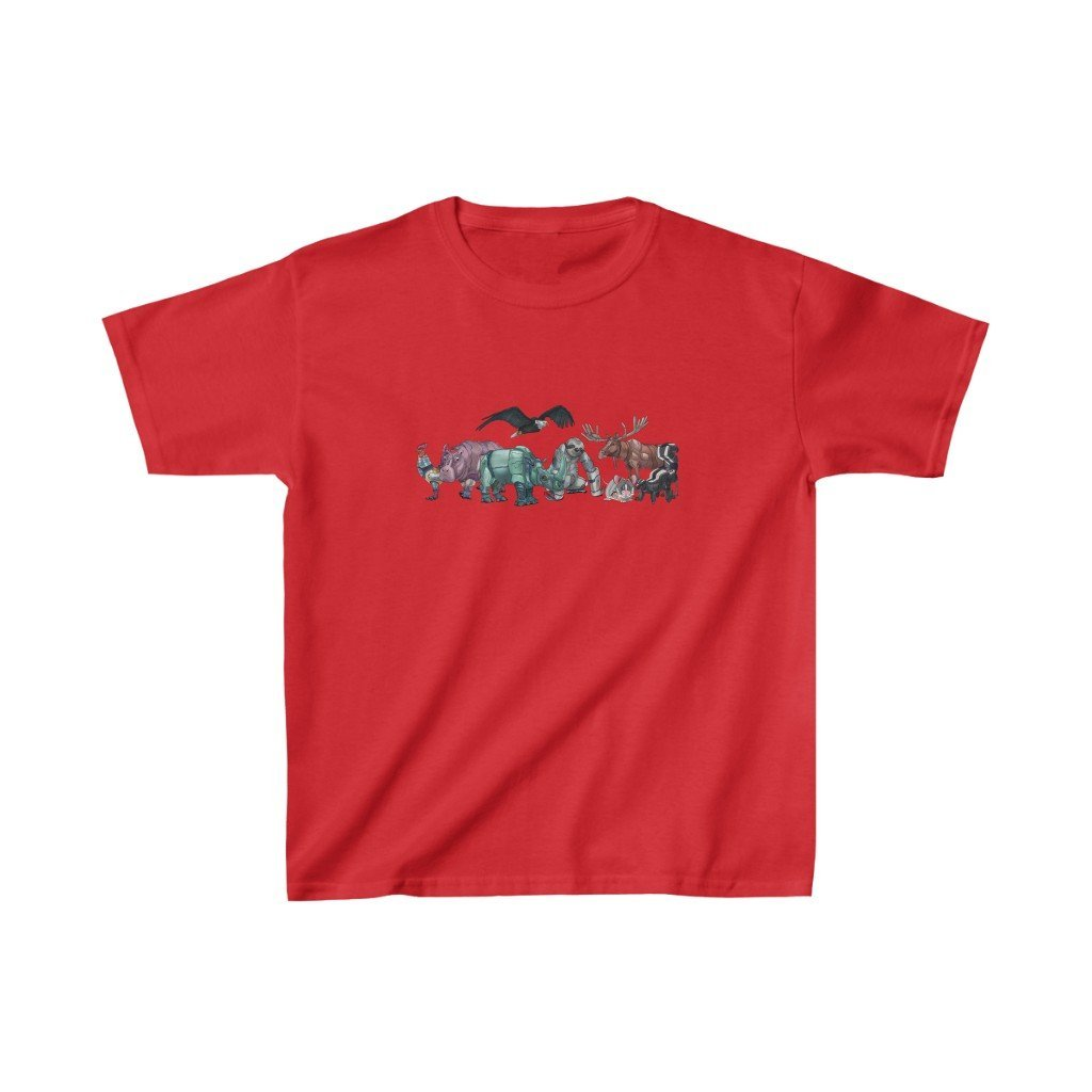 """Robot Animals"" Featured Kids Heavy Cotton™ T-Shirt (Youth) - Dan Pearce Creative Shop"
