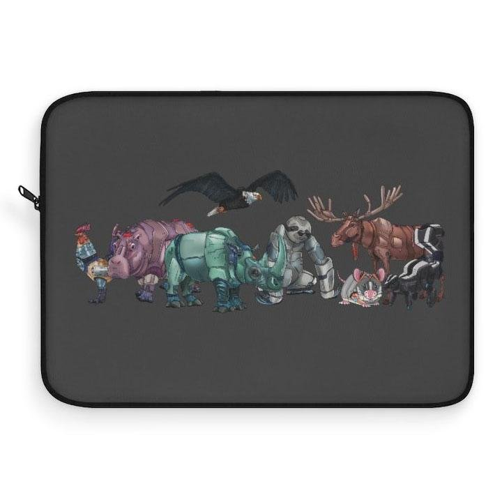 """Robot Animals"" Featured Laptop Sleeve Featuring Artwork by Dan Pearce - Dan Pearce Creative Shop"