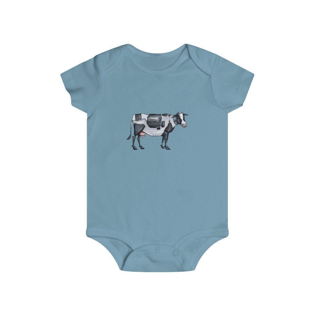 """Robot Cow"" Infant Rip Snap Tee Onesie - Dan Pearce Creative Shop"