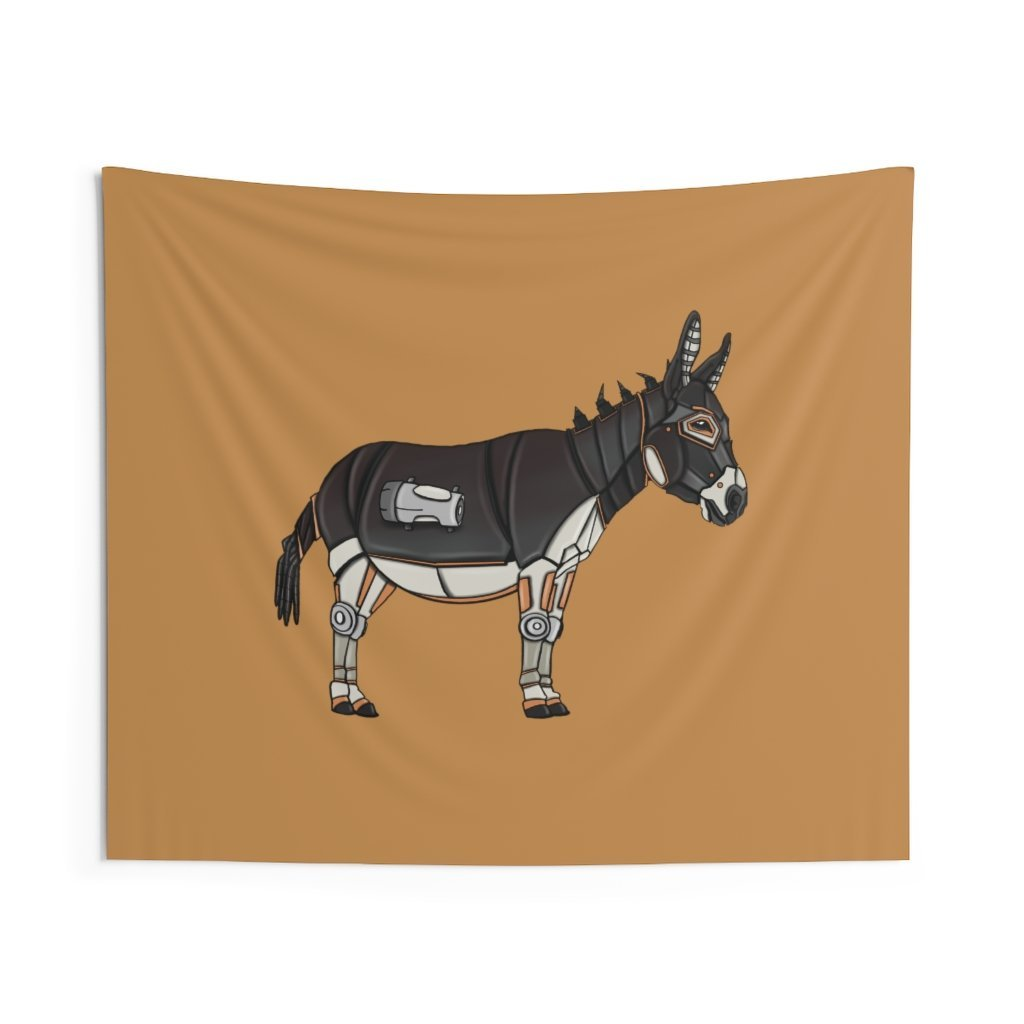 """Robot Donkey"" Indoor Wall Tapestry - Dan Pearce Creative Shop"