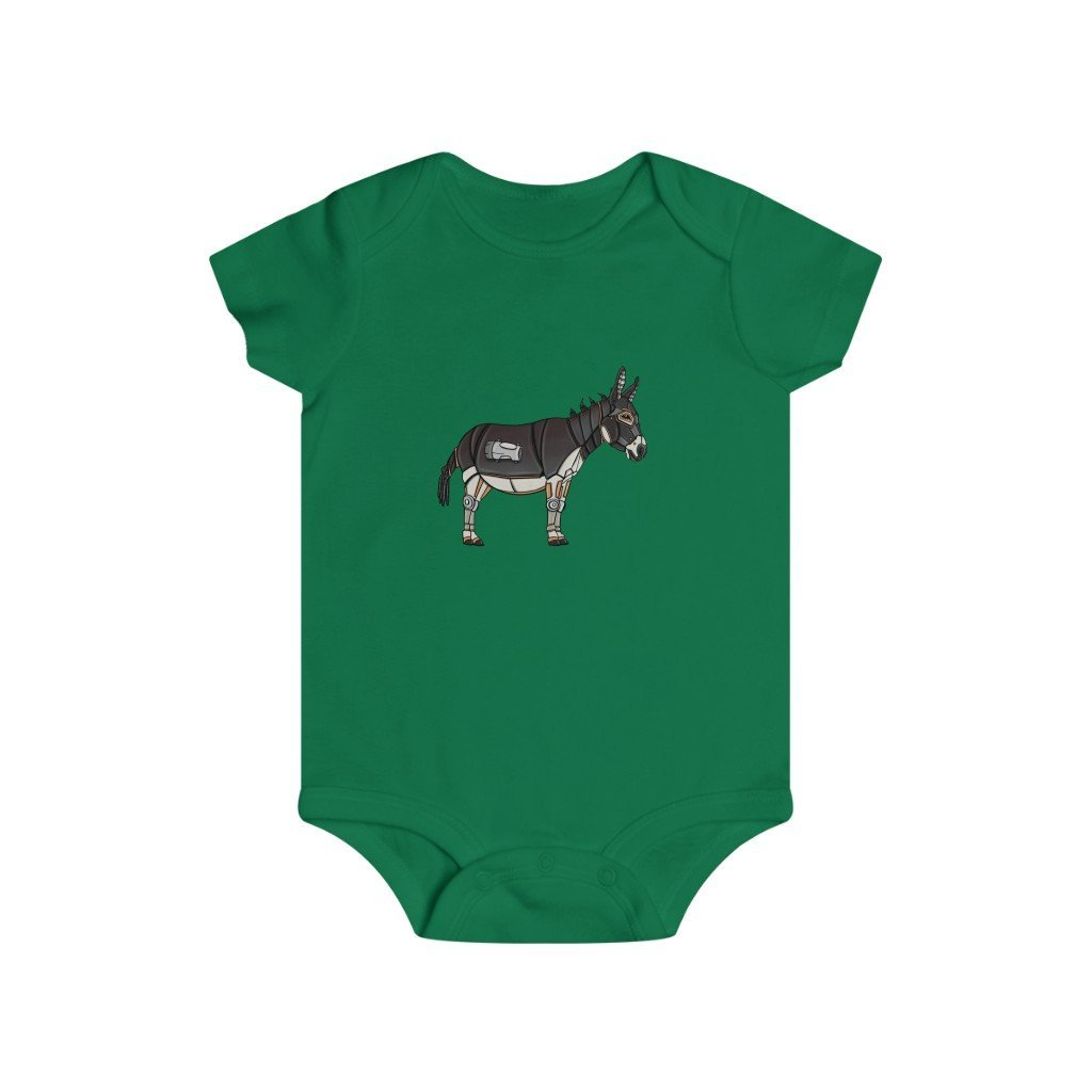 """Robot Donkey"" Infant Rip Snap Tee Onesie - Dan Pearce Creative Shop"