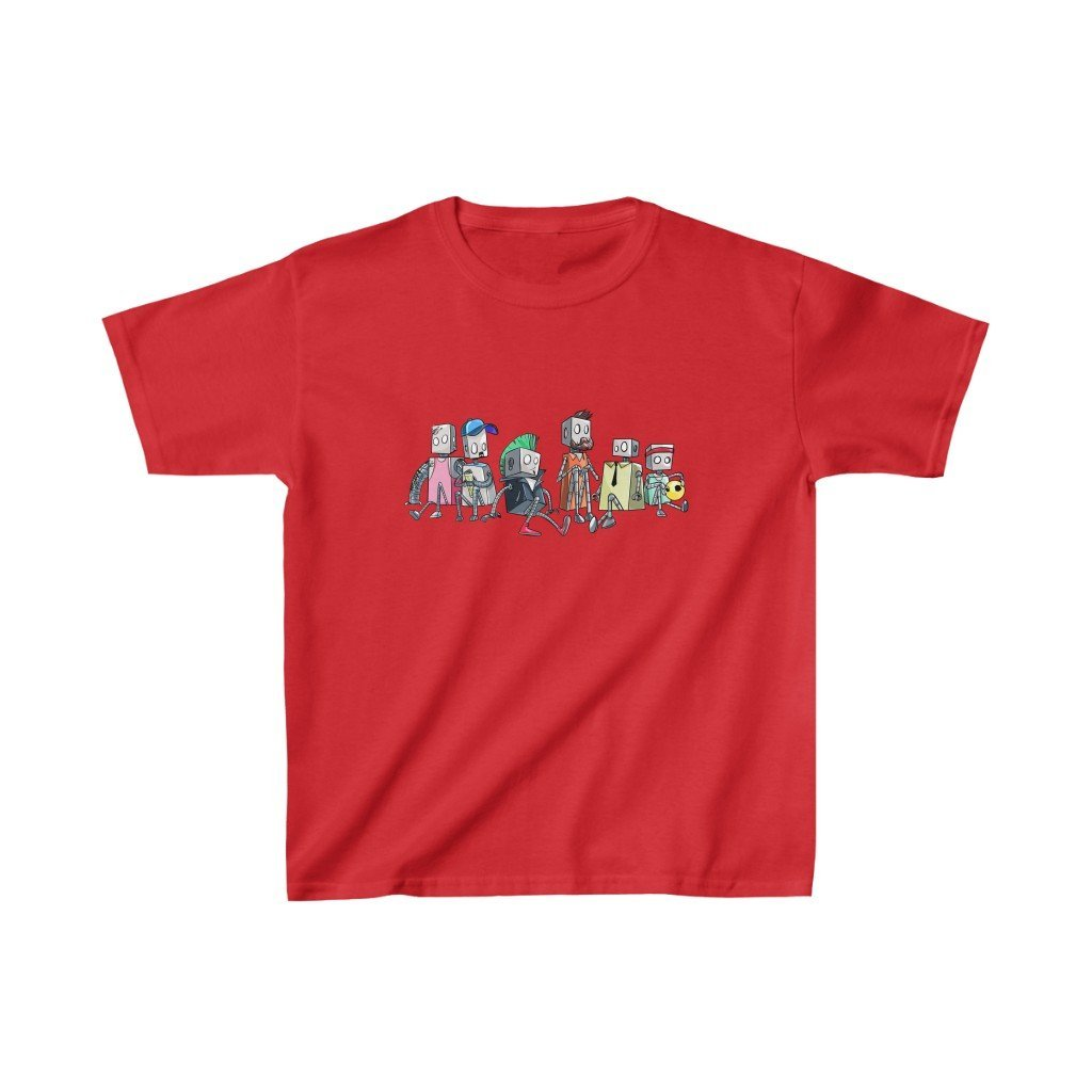 """Robot Friends"" Kids Heavy Cotton™ T-Shirt (Youth) - Dan Pearce Creative Shop"
