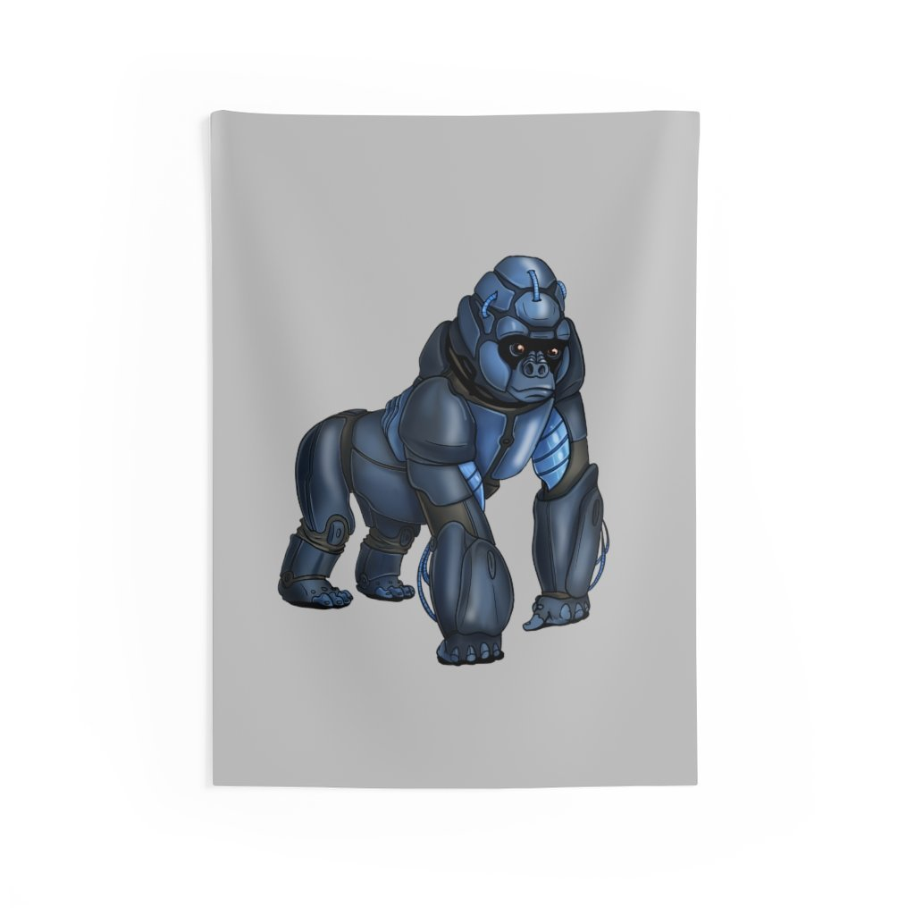 """Robot Gorilla"" Indoor Wall Tapestry - Dan Pearce Creative Shop"