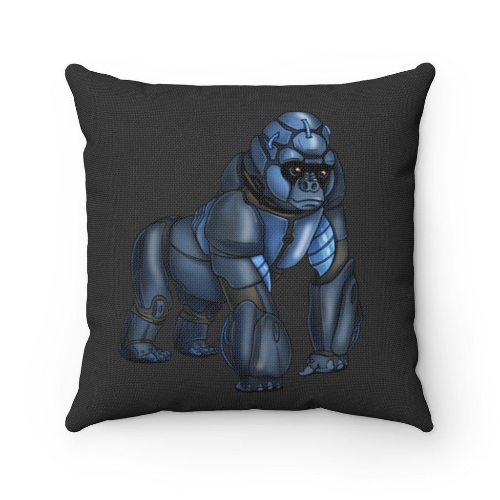 """Robot Gorilla"" Square Throw Pillow with Artwork by Dan Pearce - Dan Pearce Creative Shop"