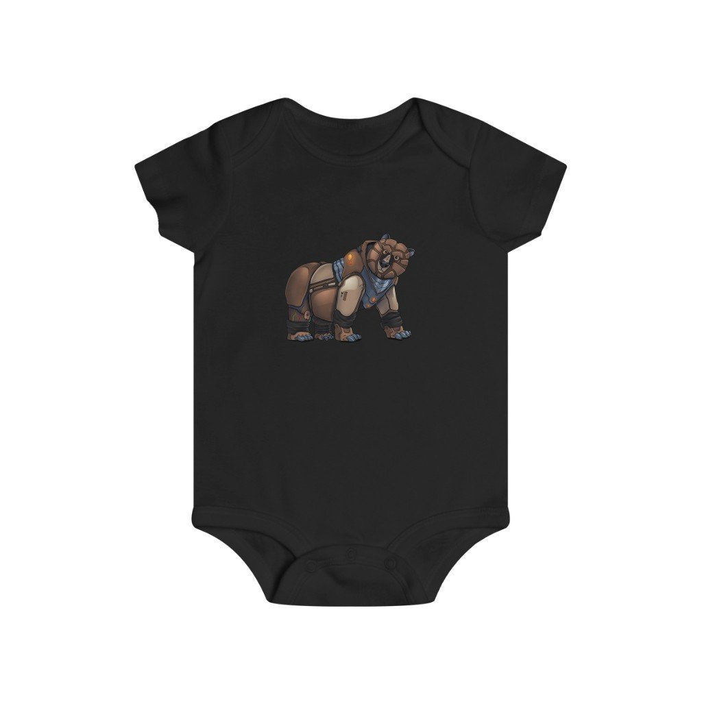 """Robot Grizzly Bear"" Infant Rip Snap Tee Onesie - Dan Pearce Creative Shop"