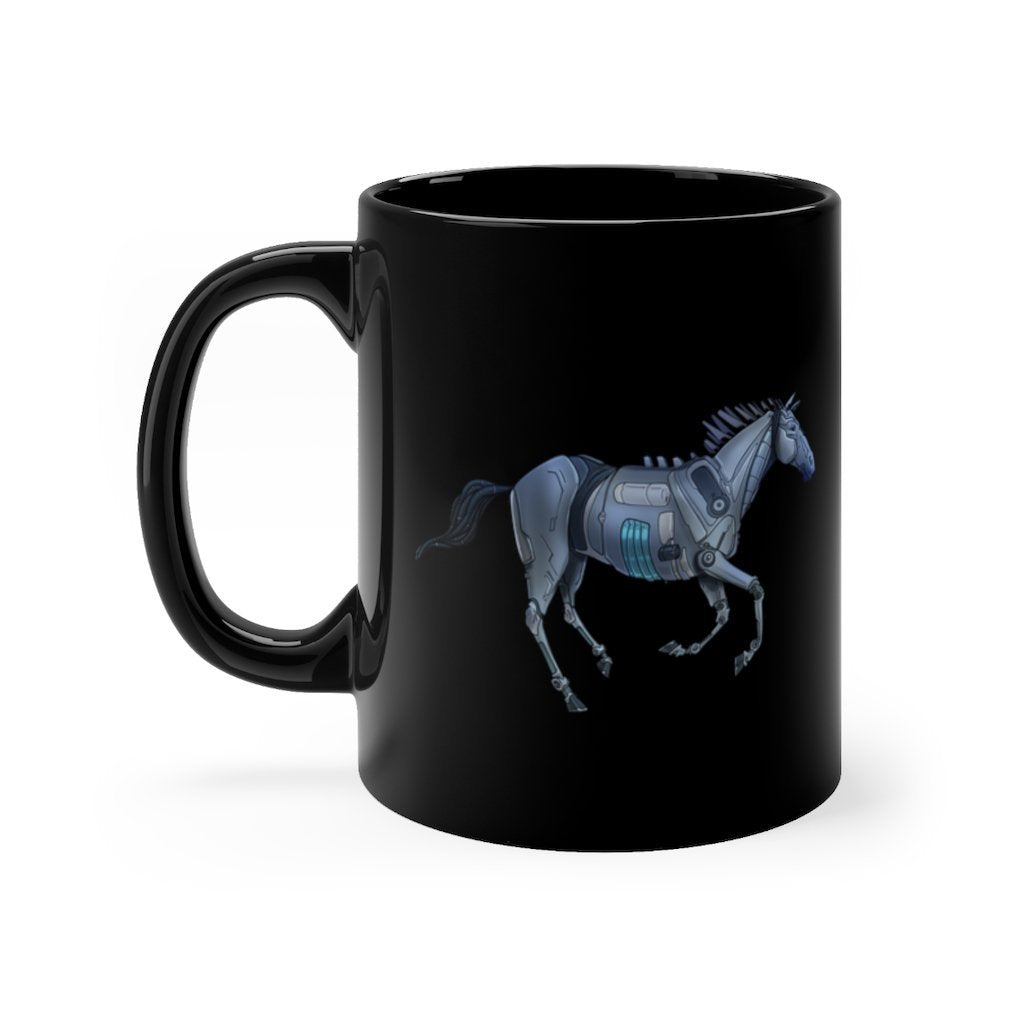 """Robot Horse"" 11oz Coffee Mug Featuring Artwork by Dan Pearce - Dan Pearce Creative Shop"