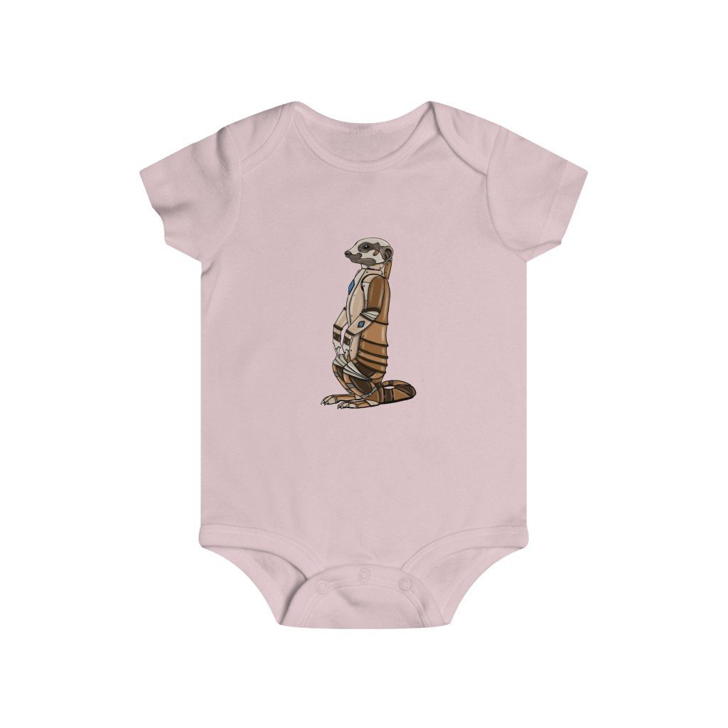 """Robot Meerkat"" Infant Rip Snap Tee Onesie - Dan Pearce Creative Shop"