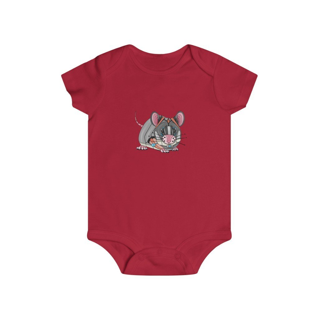 """Robot Mouse"" Infant Rip Snap Tee Onesie - Dan Pearce Creative Shop"