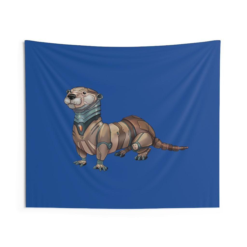 """Robot Otter"" Indoor Wall Tapestry - Dan Pearce Creative Shop"