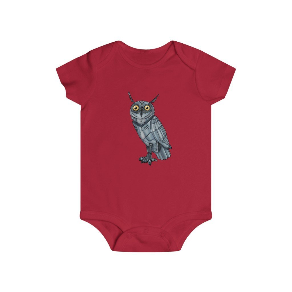 """Robot Owl"" Infant Rip Snap Tee Onesie - Dan Pearce Creative Shop"