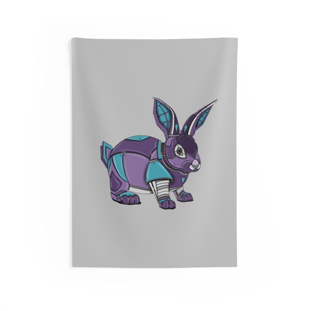 """Robot Rabbit"" Indoor Wall Tapestry - Dan Pearce Creative Shop"