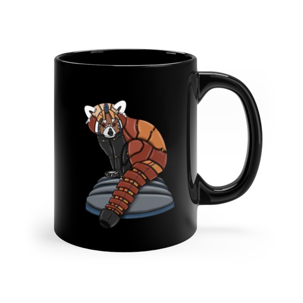 """Robot Red Panda"" 11oz Coffee Mug Featuring Artwork by Dan Pearce - Dan Pearce Creative Shop"