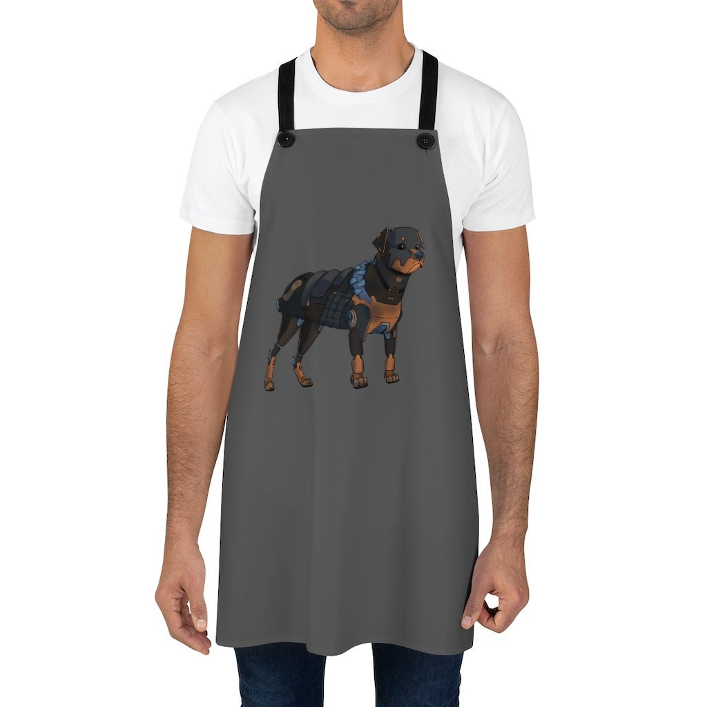 """Rottweiler Robot"" Cooking Apron Featuring Art by Dan Pearce - Dan Pearce Creative Shop"