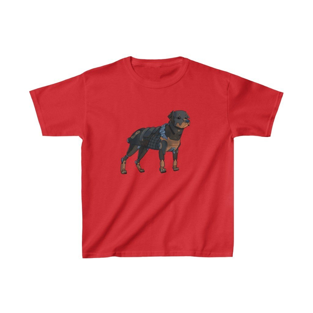 """Rottweiler Robot"" Kids Heavy Cotton™ T-Shirt (Youth) - Dan Pearce Creative Shop"