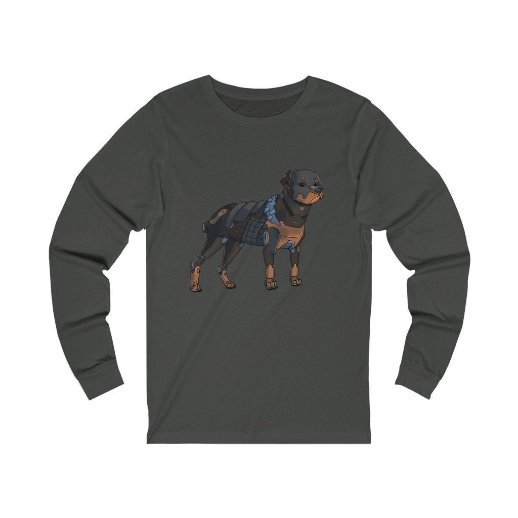 """Rottweiler Robot"" Long-Sleeve Premium T-Shirt - Dan Pearce Creative Shop"