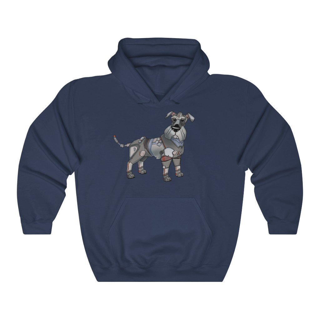 """Schnauzer Robot"" Hooded Sweatshirt by Dan Pearce (Hoodie) - Dan Pearce Creative Shop"