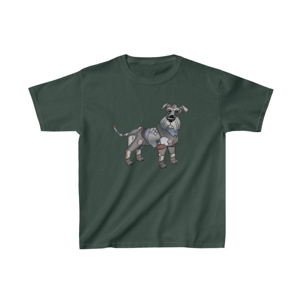 """Schnauzer Robot"" Kids Heavy Cotton™ T-Shirt (Youth) - Dan Pearce Creative Shop"