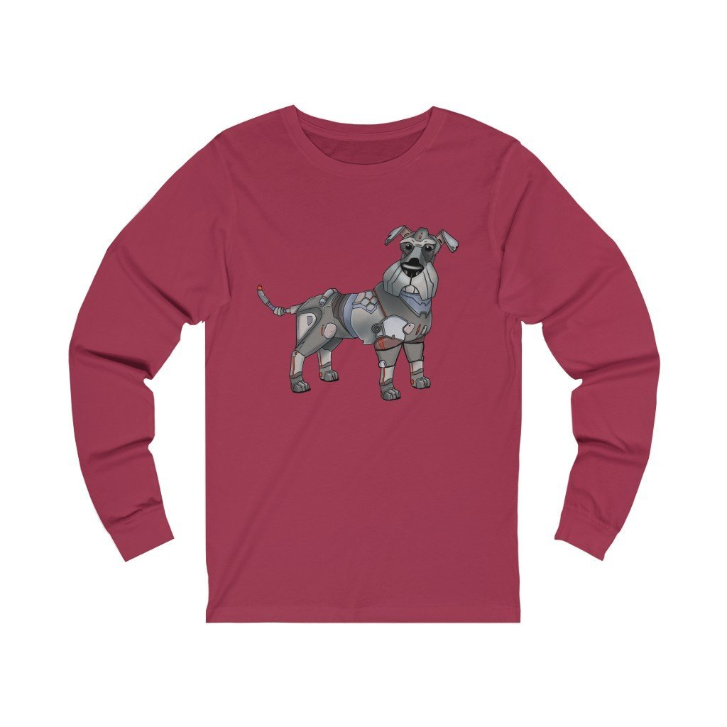 """Schnauzer Robot"" Long-Sleeve Premium T-Shirt - Dan Pearce Creative Shop"