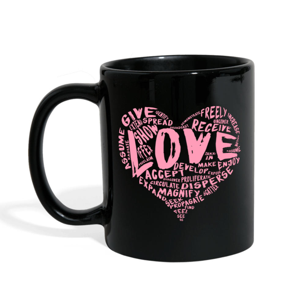 SDL's Official LOVE Mug (Black with Pink) - Dan Pearce Creative Shop