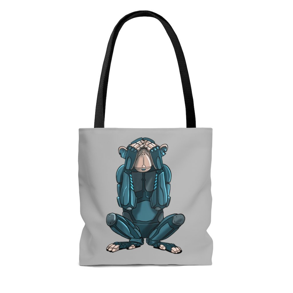 """See No Evil Monkey Robot"" Tote Bag - Dan Pearce Creative Shop"