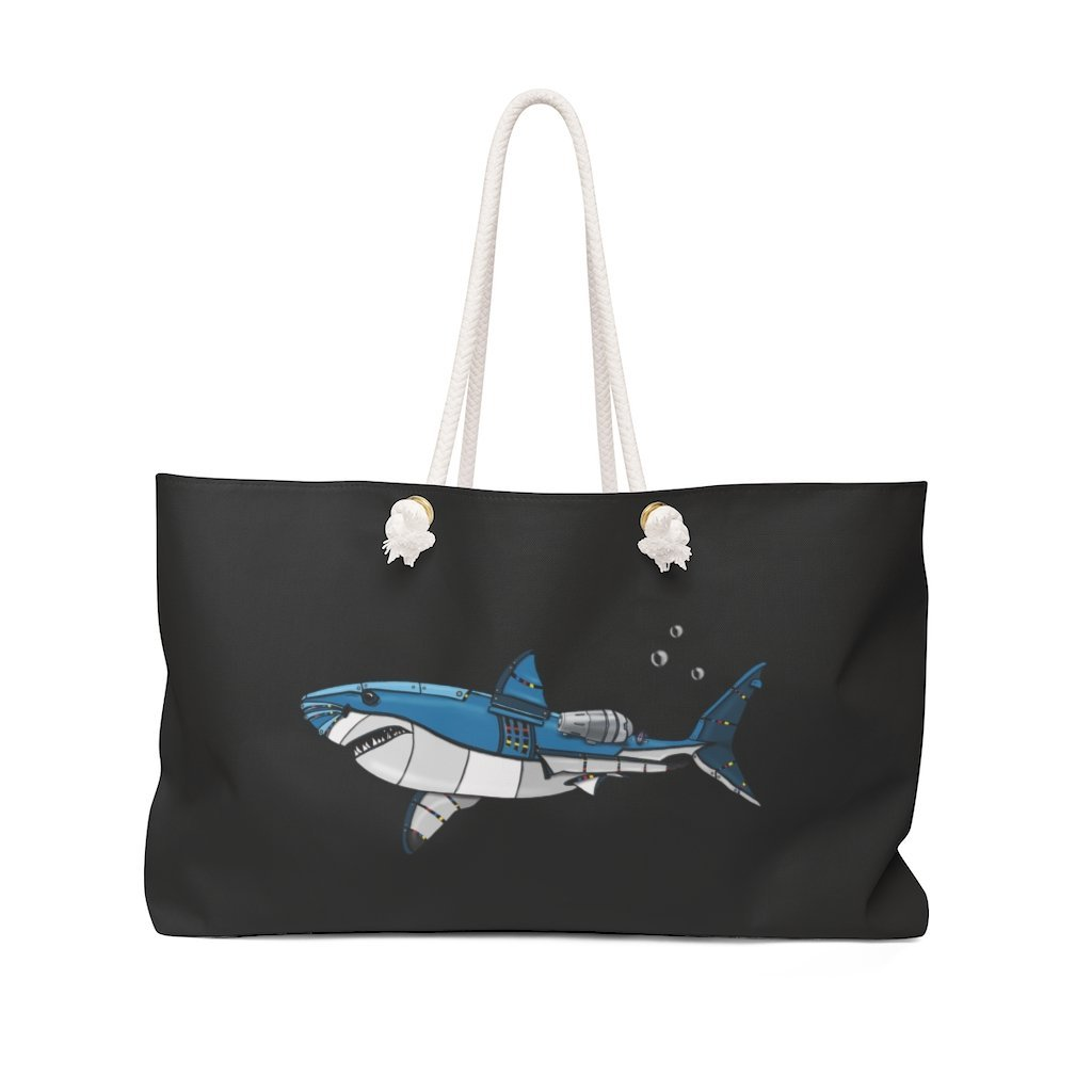 """Shark Robot"" Weekender Bag (Pink Version) - Dan Pearce Creative Shop"
