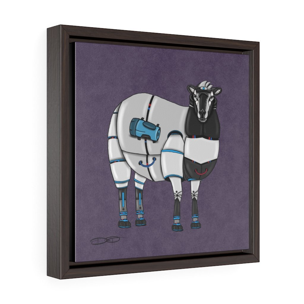 """Sheep Robot"" Art (Square) Framed Premium Gallery Wrap Canvas - Dan Pearce Creative Shop"