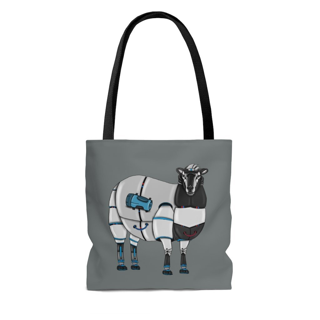 """Sheep Robot"" Tote Bag - Dan Pearce Creative Shop"