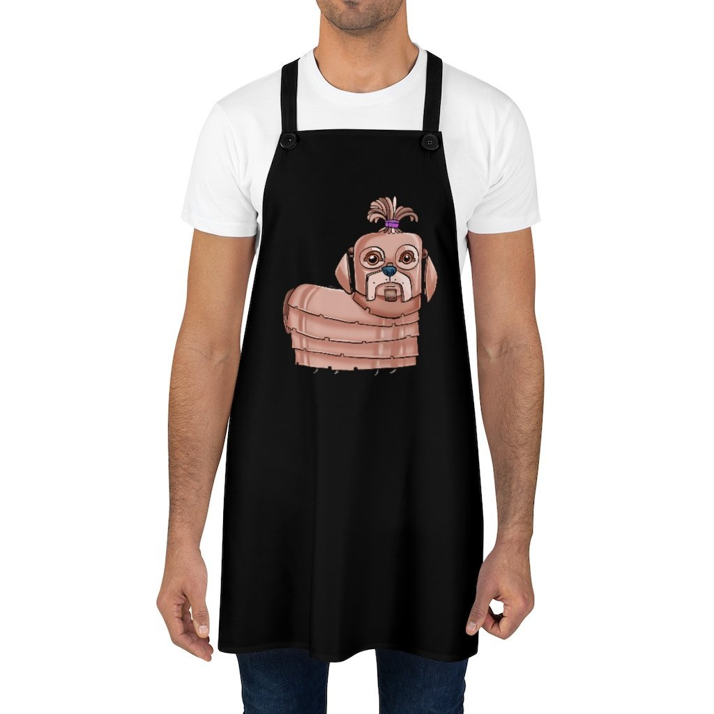 """Shih Tzu Robot"" Cooking Apron Featuring Art by Dan Pearce - Dan Pearce Creative Shop"