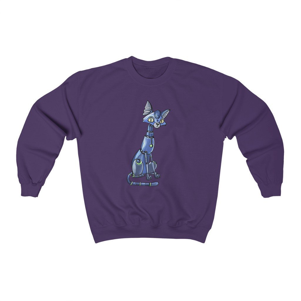 """Siamese Cat Robot"" Crewneck Premium Sweatshirt - Dan Pearce Creative Shop"