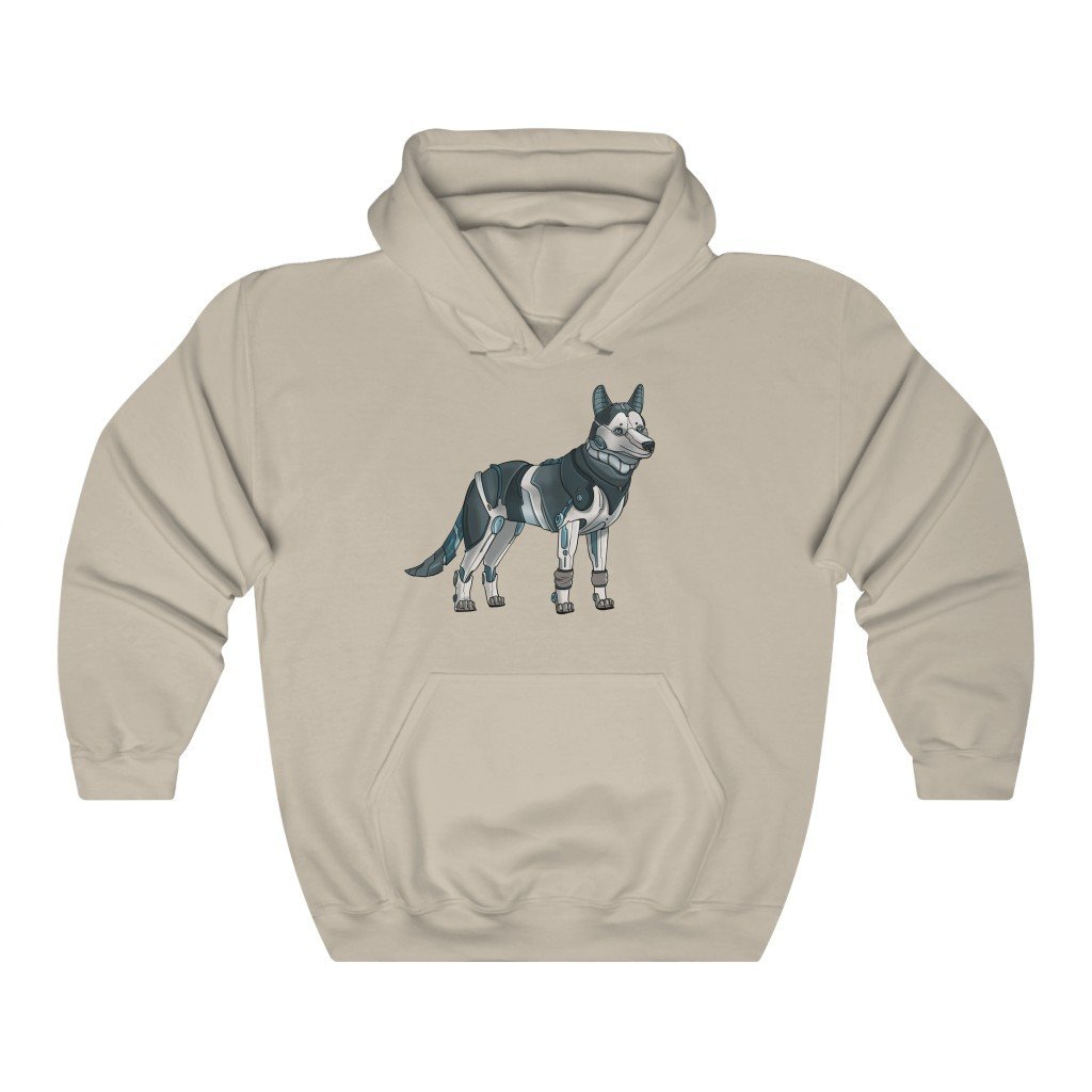 """Siberian Husky Robot"" Hooded Sweatshirt by Dan Pearce (Hoodie) - Dan Pearce Creative Shop"