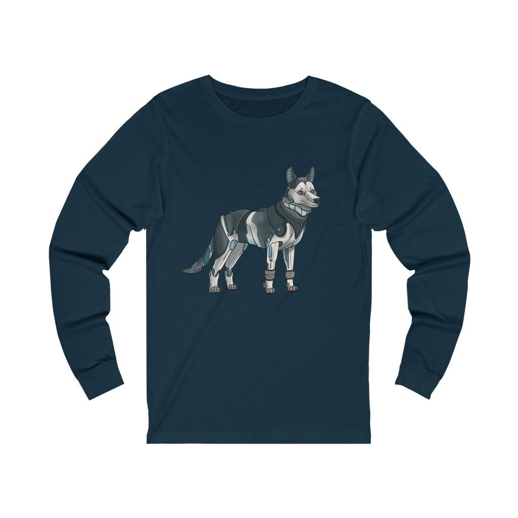 """Siberian Husky Robot"" Long-Sleeve Premium T-Shirt - Dan Pearce Creative Shop"