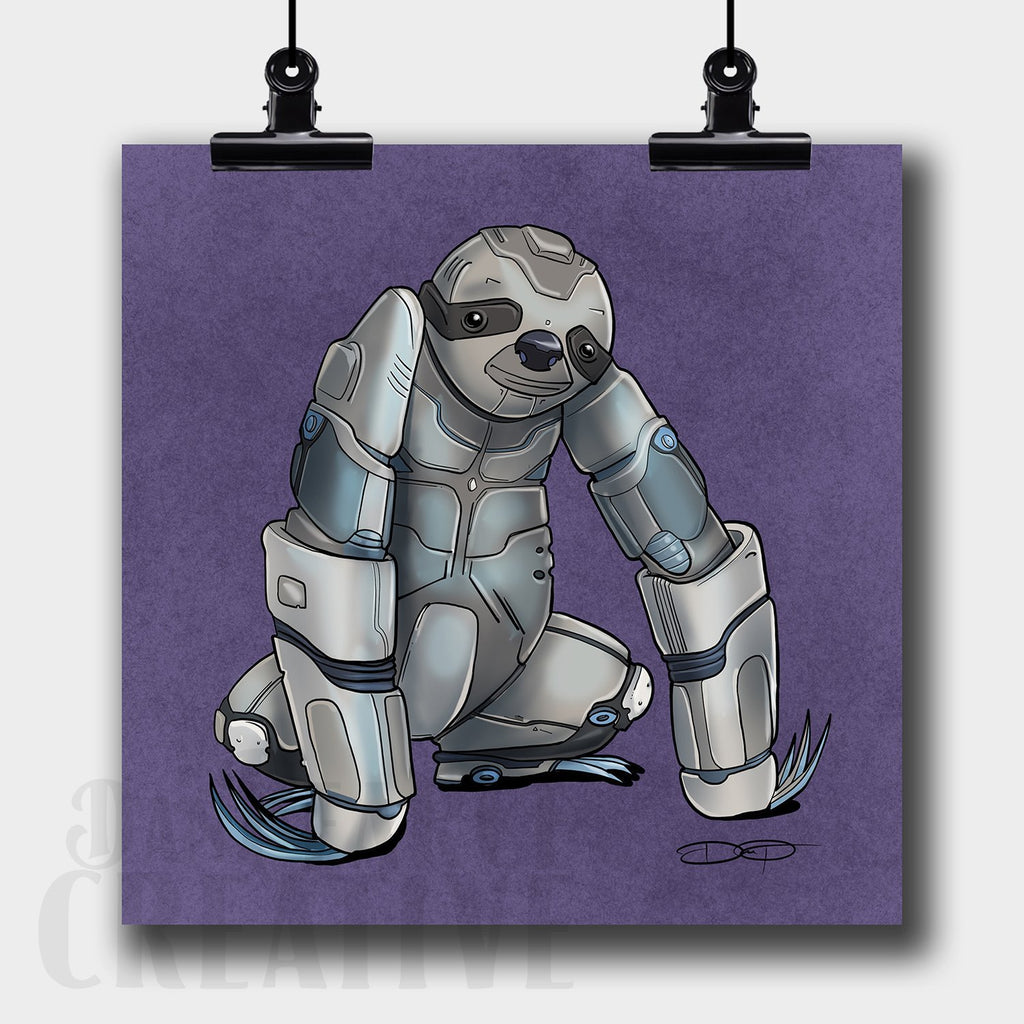Sloth Robot Fine Art Print Created by Dan Pearce - Dan Pearce Creative Shop