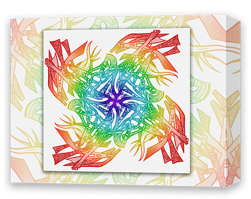 "Specialty Gallery Wrap Canvas for Custom ""Name Mandala"" - Dan Pearce Creative Shop"