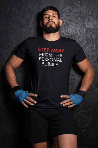 """Step Away From the Personal Bubble"" Premium T-Shirt - Dan Pearce Creative Shop"