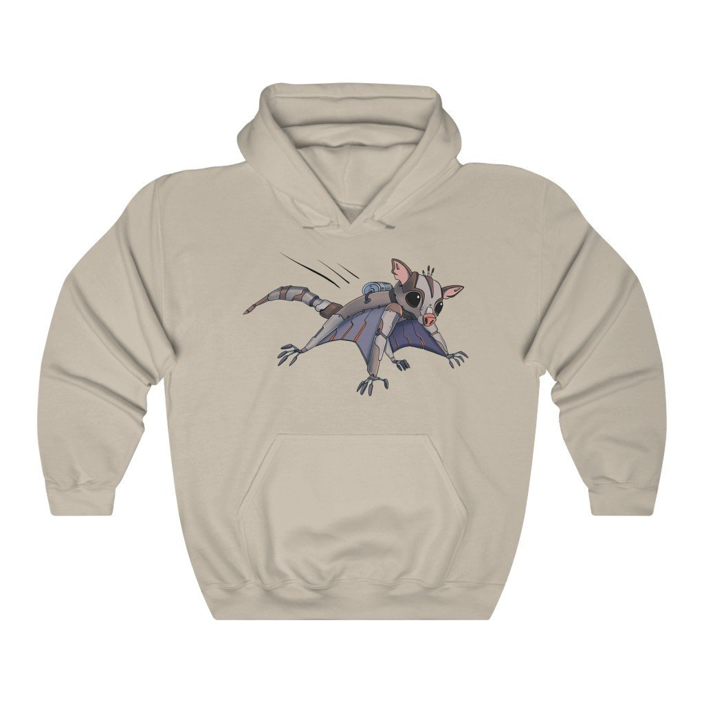 """Sugar Glider Robot"" Hooded Sweatshirt by Dan Pearce (Hoodie) - Dan Pearce Creative Shop"