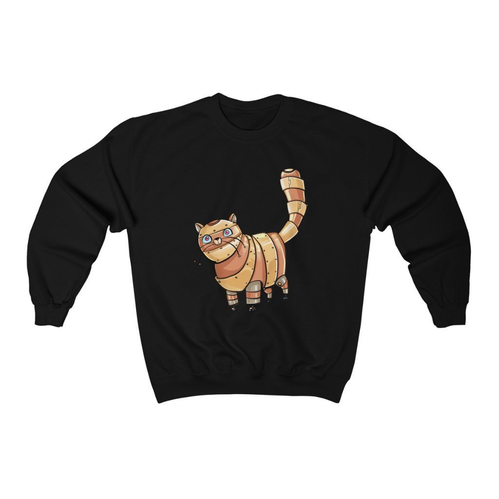 """Tabby Cat Robot"" Crewneck Premium Sweatshirt - Dan Pearce Creative Shop"