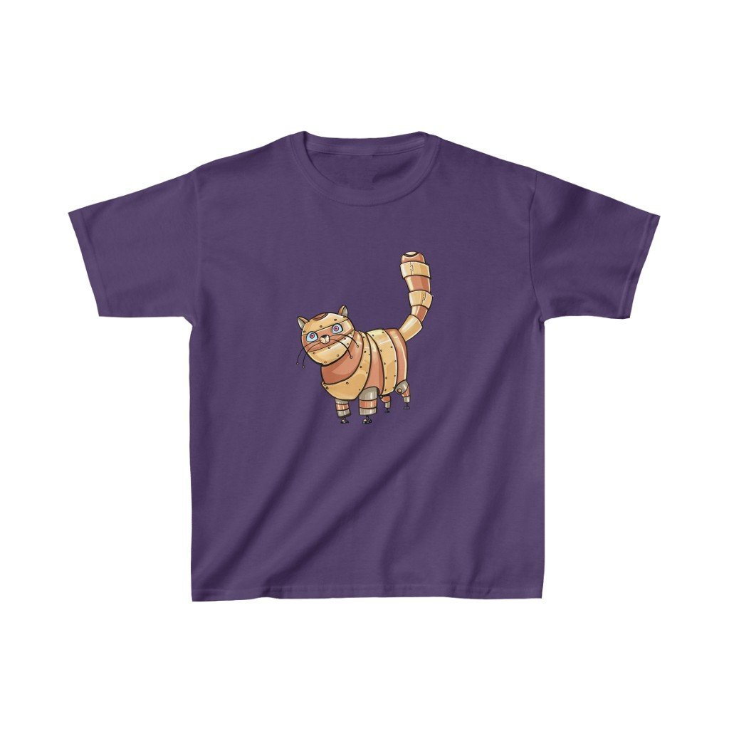 """Tabby Cat Robot"" Kids Heavy Cotton™ T-Shirt (Youth) - Dan Pearce Creative Shop"