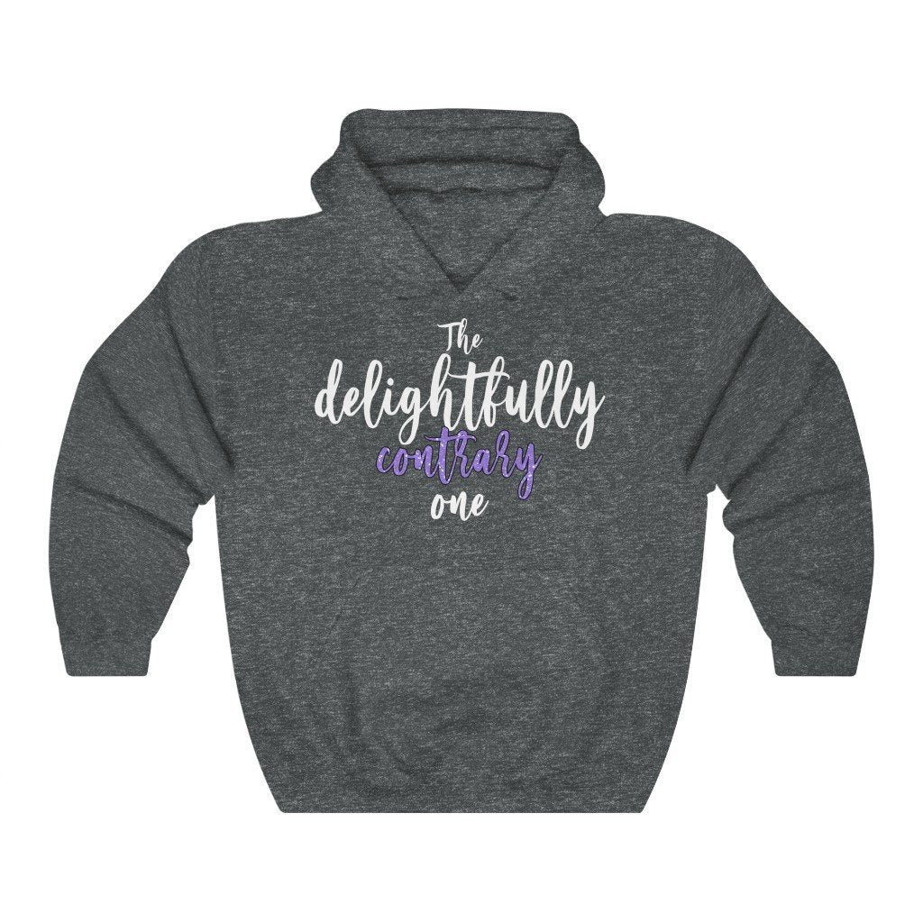 """The Delightfully Contrary One"" Hoodie - Quirk Shirts - Premium Hooded Sweatshirt - Dan Pearce Creative Shop"