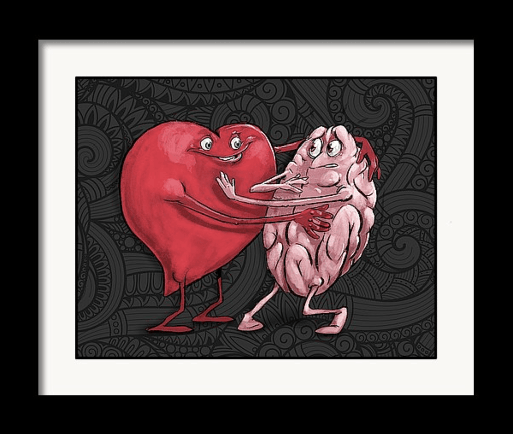 """The Heart is Willing But the Mind is Weak"" Art Print by Dan Pearce - Dan Pearce Creative Shop"