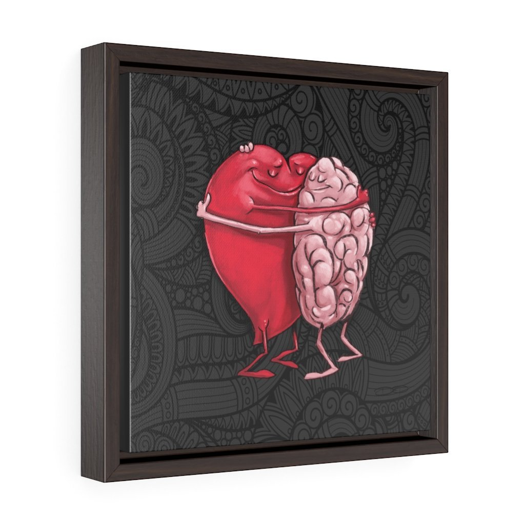 """The Mind Hugging the Heart"" Art (Square) Framed Premium Gallery Wrap Canvas - Dan Pearce Creative Shop"