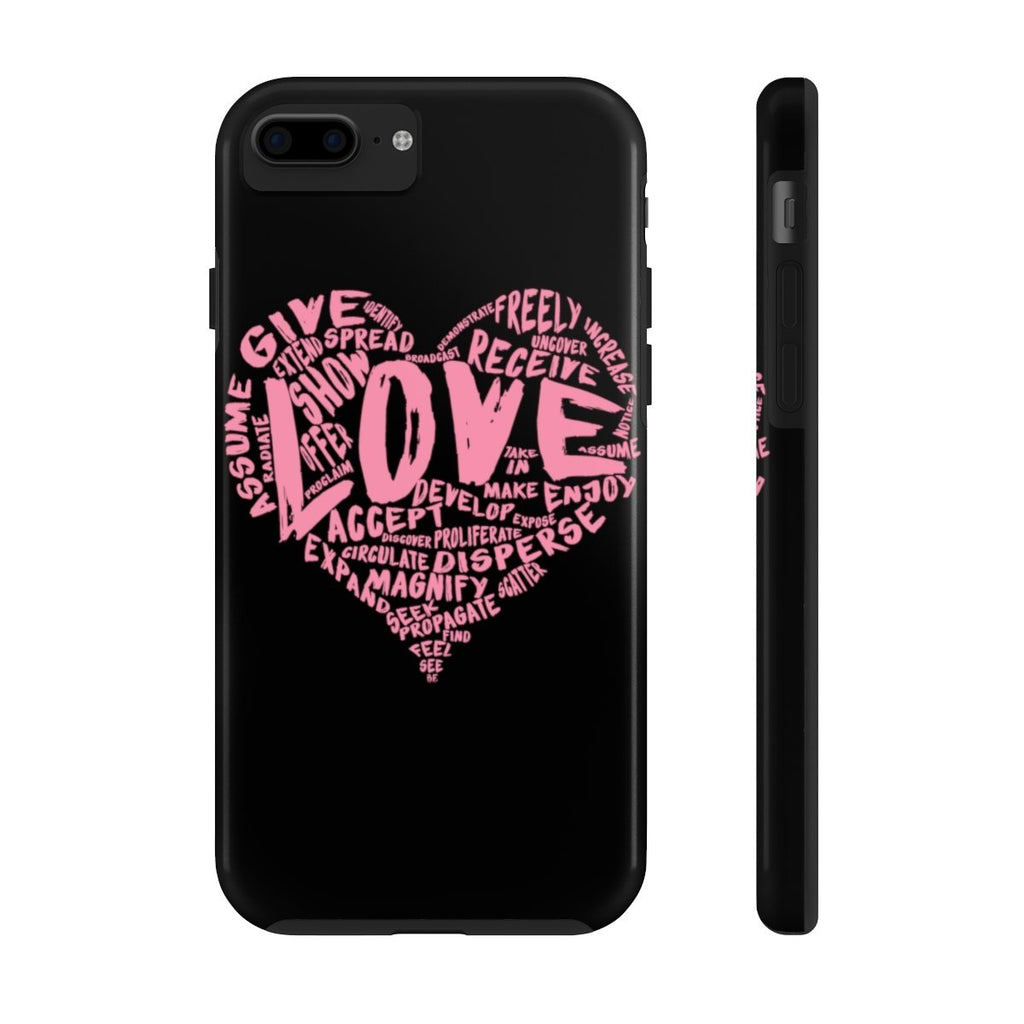 The Official LOVE Case Mate Tough Phone Case (Pink on Black) - Dan Pearce Creative Shop