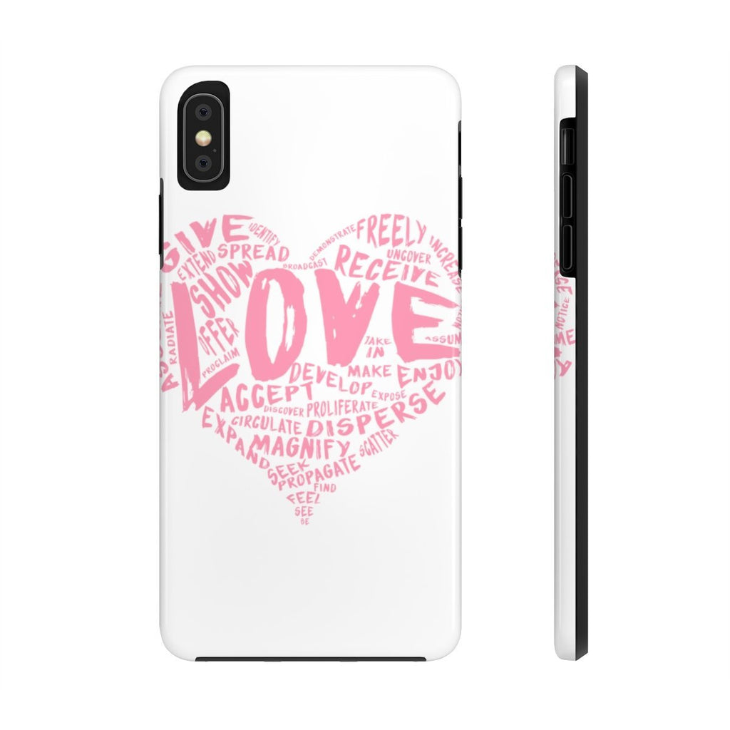 The Official LOVE Case Mate Tough Phone Case (Pink on White) - Dan Pearce Creative Shop