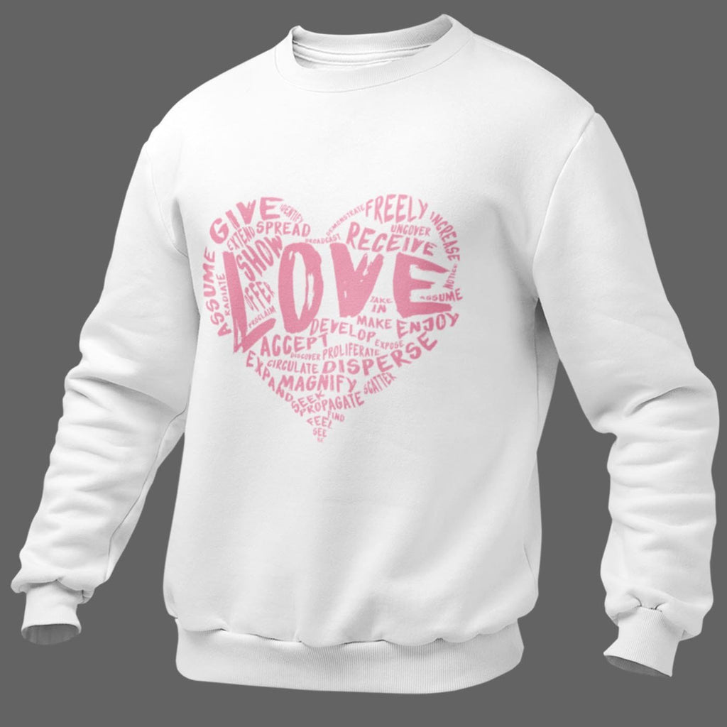 The Official LOVE Crewneck Premium Sweatshirt (Pink Version) - Dan Pearce Creative Shop